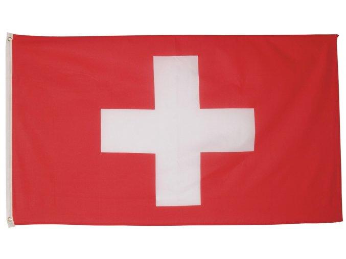 Vlajka Švýcarsko o velikosti 90 x 150 cm AKCE