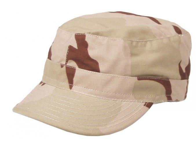 US BDU polní čepice s kšiltem Rip Stop desert 3 barvy