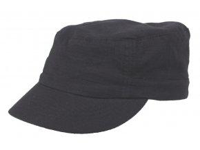 US polní čepice s kšiltem černá Rip Stop Elasti-Fit