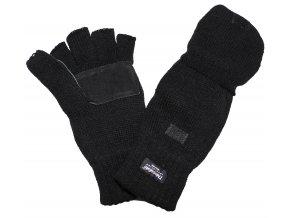 Multifunkční rukavice - bezprstové - palčáky Thinsulate černé