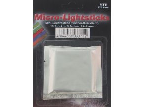 Svítící tyčka - chemické světlo mini (rybářský policajt do tmy) 10 ks