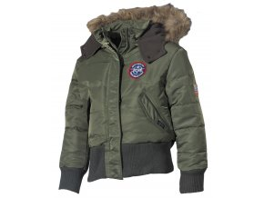 US dětská bunda Aljaška N2B olivová