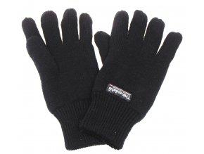 Pletené rukavice Thinsulate černé