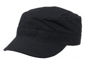 US BDU polní čepice s kšiltem Rip Stop černá