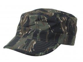 US BDU polní čepice s kšiltem Rip Stop tiger stripe